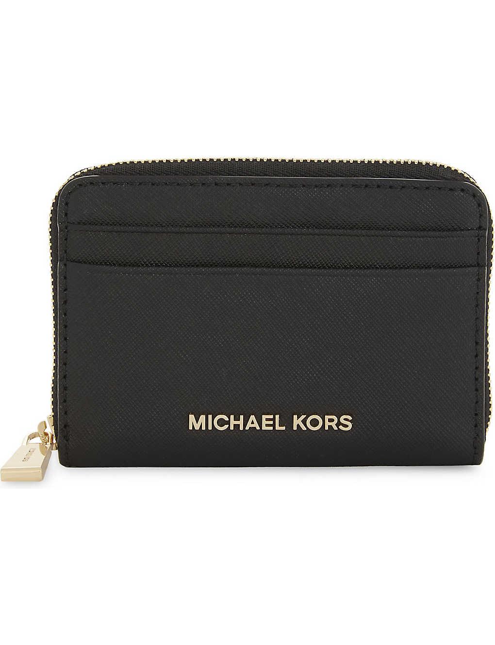 931627c6e73510 MICHAEL MICHAEL KORS - Money Pieces Saffiano leather zipped card ...