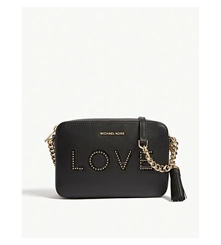 483e20037906d MICHAEL MICHAEL KORS Ginny love leather camera bag (Black