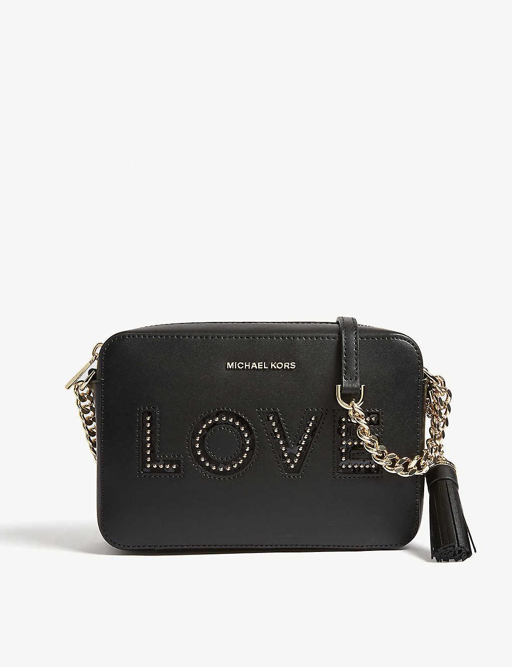 6f8625e3d1d2cb MICHAEL MICHAEL KORS - Ginny love leather camera bag | Selfridges.com