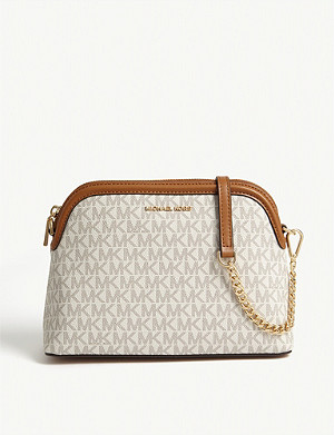 MICHAEL MICHAEL KORS Logo-print Jet Set Dome leather cross-body bag