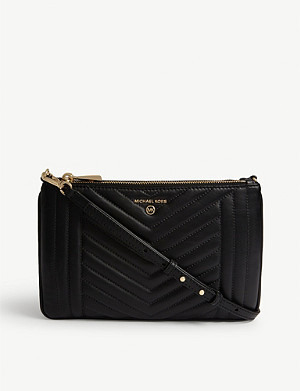 MICHAEL MICHAEL KORS Jet Set quilted leather pouch