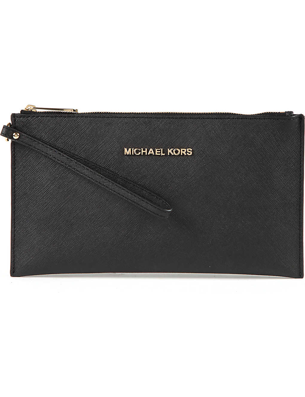 1fa25e1409a MICHAEL MICHAEL KORS - Jet Set saffiano leather clutch | Selfridges.com