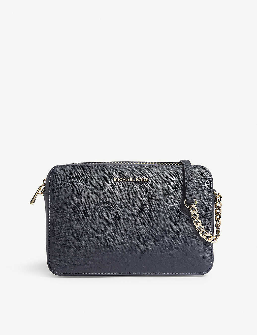 MICHAEL MICHAEL KORS: Jet Set leather cross-body bag