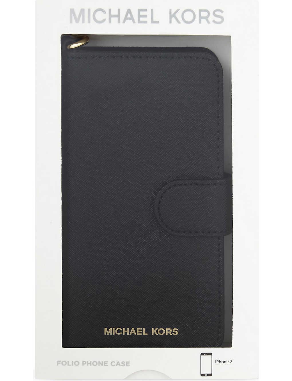 01ad5521b1eb5d MICHAEL MICHAEL KORS - Folio leather iPhone 7 case | Selfridges.com