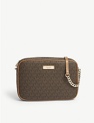 MICHAEL MICHAEL KORS: Logo large leather cross-body bag