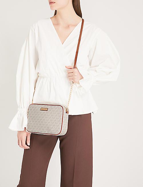 673983b05ff7 MICHAEL MICHAEL KORS Logo large leather cross-body bag