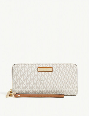 MICHAEL MICHAEL KORS Logo coated canvas continental wallet