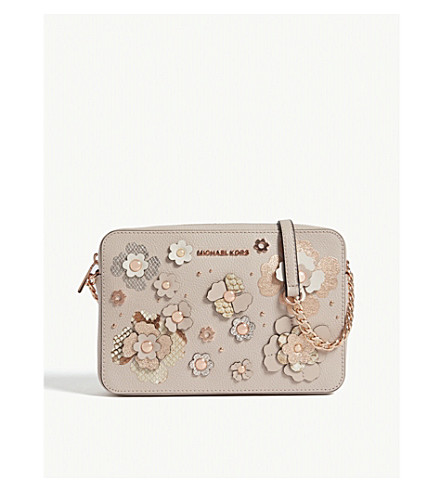 091e508dcc05 ... MICHAEL MICHAEL KORS Metallic floral large leather cross-body bag  (Sftpnk+multi. PreviousNext
