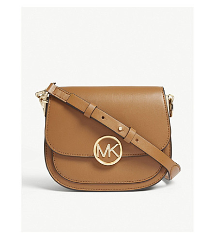 079e189f8e80 ... MICHAEL MICHAEL KORS Lillie small leather saddle bag (Acorn.  PreviousNext