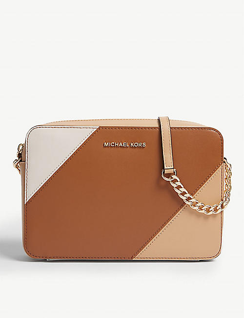 8a52df6df5e5 MICHAEL MICHAEL KORS Colour-blocked leather cross-body bag