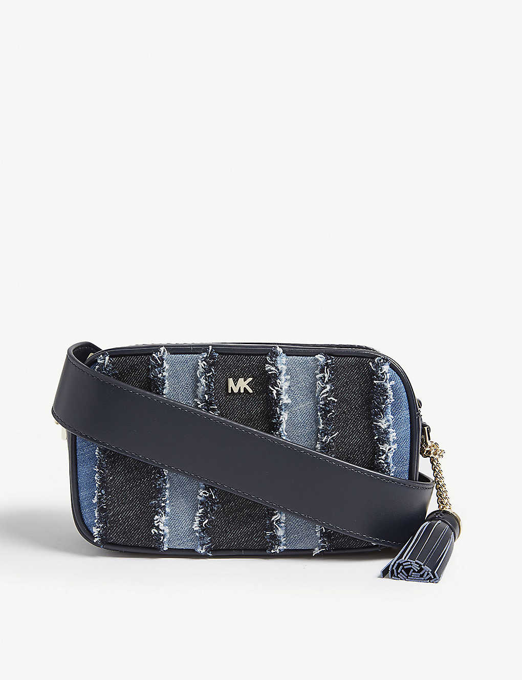 b281e005027660 MICHAEL MICHAEL KORS - Denim and leather cross-body bag | Selfridges.com