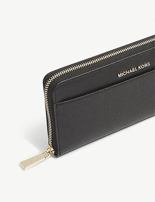 MICHAEL MICHAEL KORS Jet Set leather continental wallet