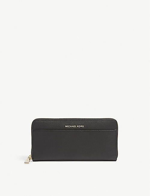 MICHAEL MICHAEL KORS: Jet Set leather continental wallet