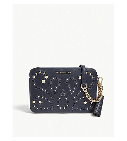 fd6fc655c407 MICHAEL MICHAEL KORS - Embellished leather cross-body bag ...
