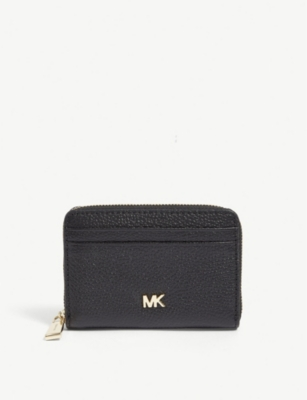 MICHAEL MICHAEL KORS Logo grained leather purse