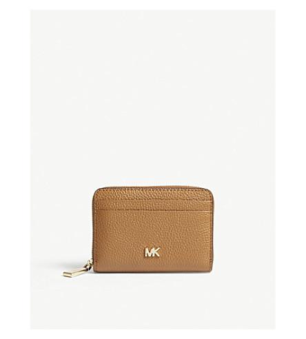 fac1283701ba1c MICHAEL MICHAEL KORS Money Pieces grained leather card purse (Acorn