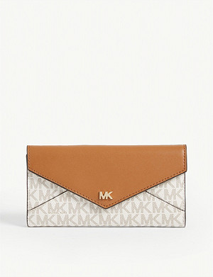 MICHAEL MICHAEL KORS Monogramme print coated canvas long wallet