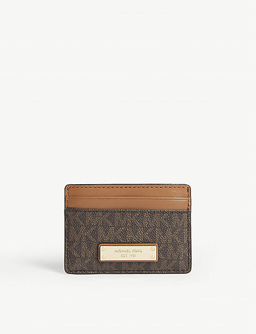 MICHAEL MICHAEL KORS Jet Set branded card holder