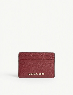 MICHAEL MICHAEL KORS Logo leather card holder