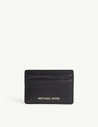 MICHAEL MICHAEL KORS: Jet Set leather card holder