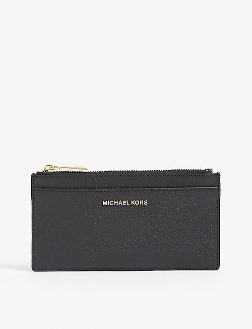 MICHAEL MICHAEL KORS: Jet Set leather card case