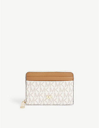 MICHAEL MICHAEL KORS: Small monogram coated canvas wallet