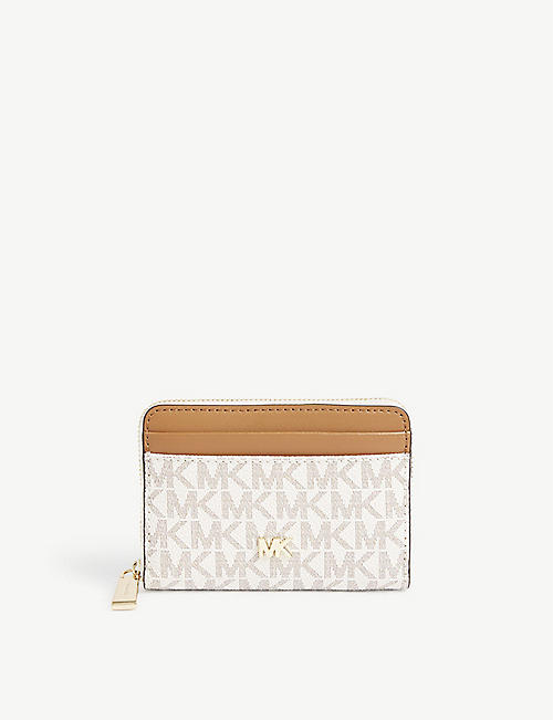 MICHAEL MICHAEL KORS Small monogram coated canvas wallet