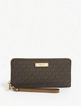 MICHAEL MICHAEL KORS: Jet Set leather wallet