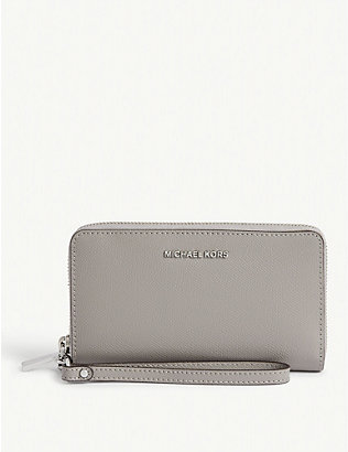 MICHAEL MICHAEL KORS: Jet Set leather phone wallet