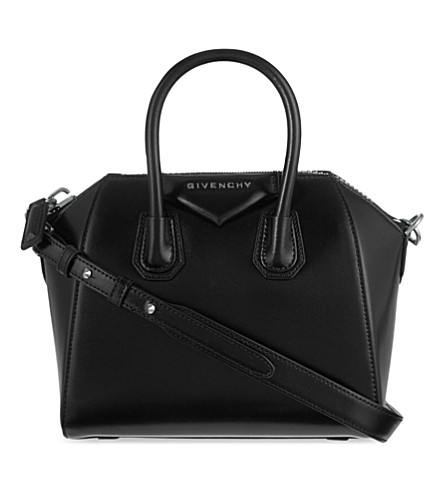 5d09f4408259 GIVENCHY Antigona mini leather tote (Black