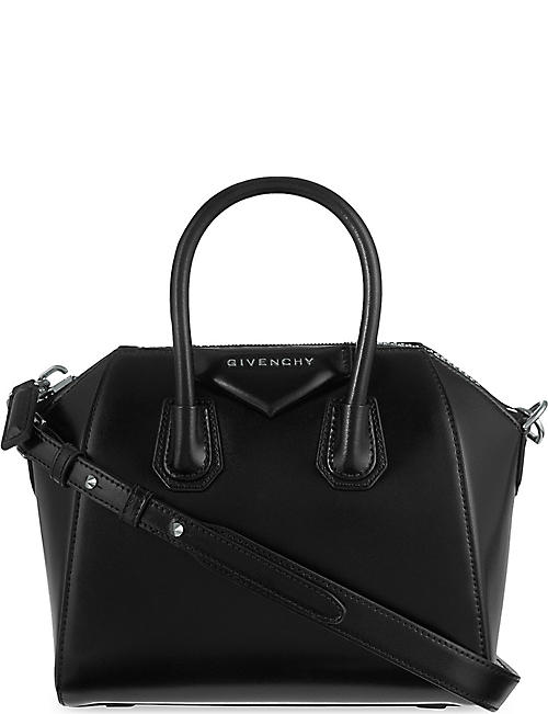 GIVENCHY: Antigona mini leather tote