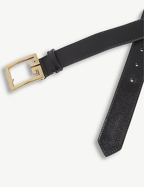 GIVENCHY Logo-buckle leather belt