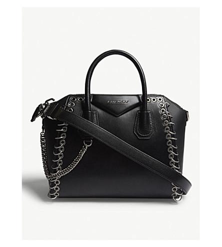 Givenchy  BLACK ANTIGONA EYELET LEATHER TOTE BAG