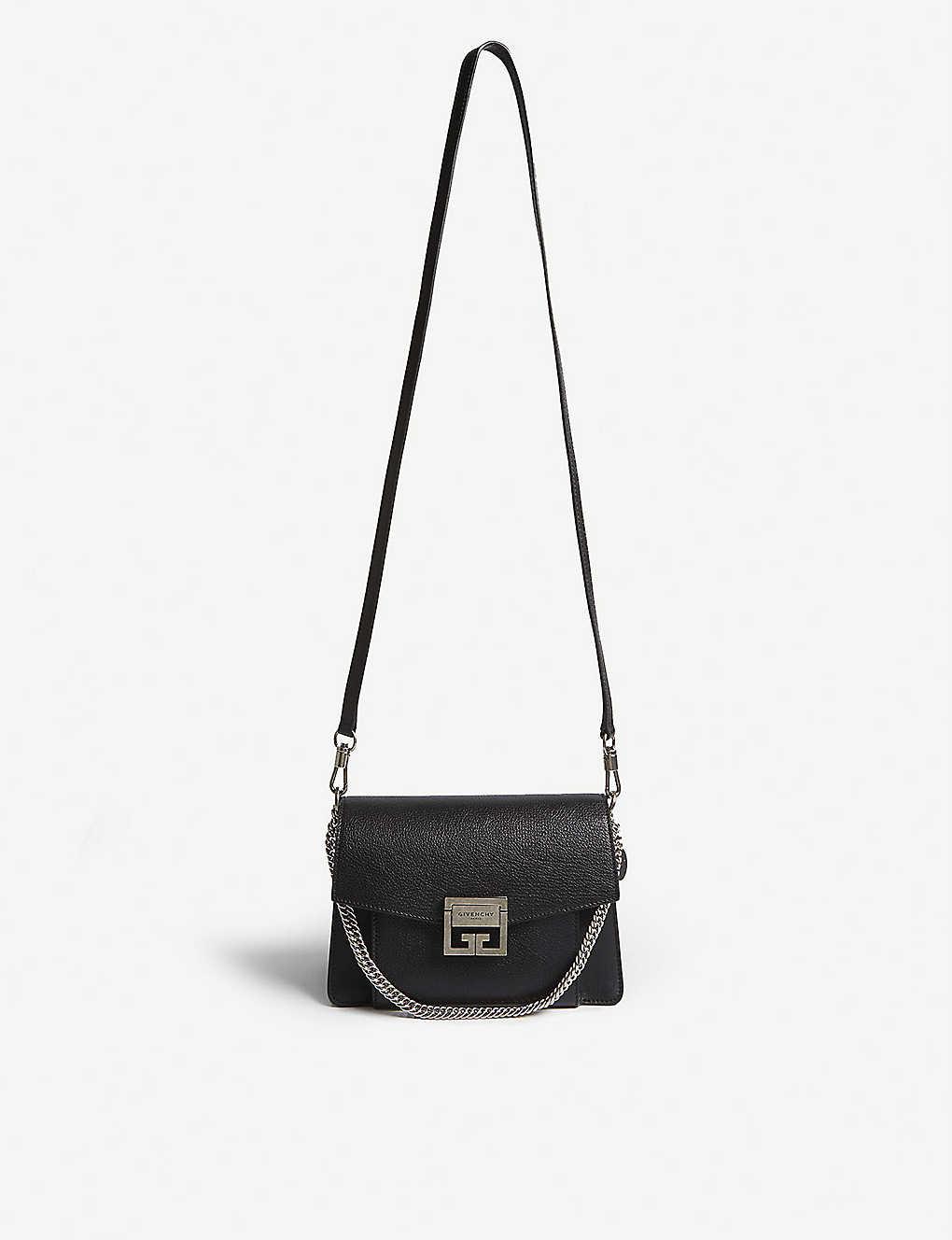 ef2d973f594 GV3 small leather shoulder bag - Blacksilver ...