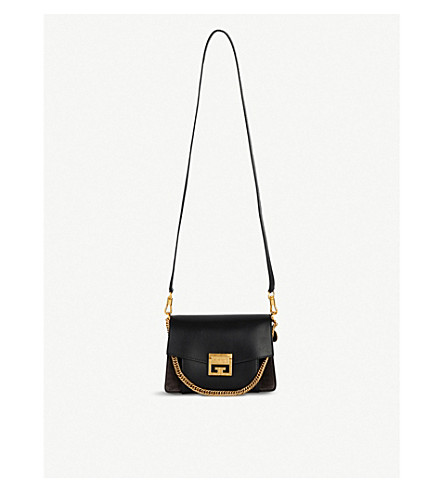 GIVENCHY - GV3 leather and suede shoulder bag  d8735317f8976