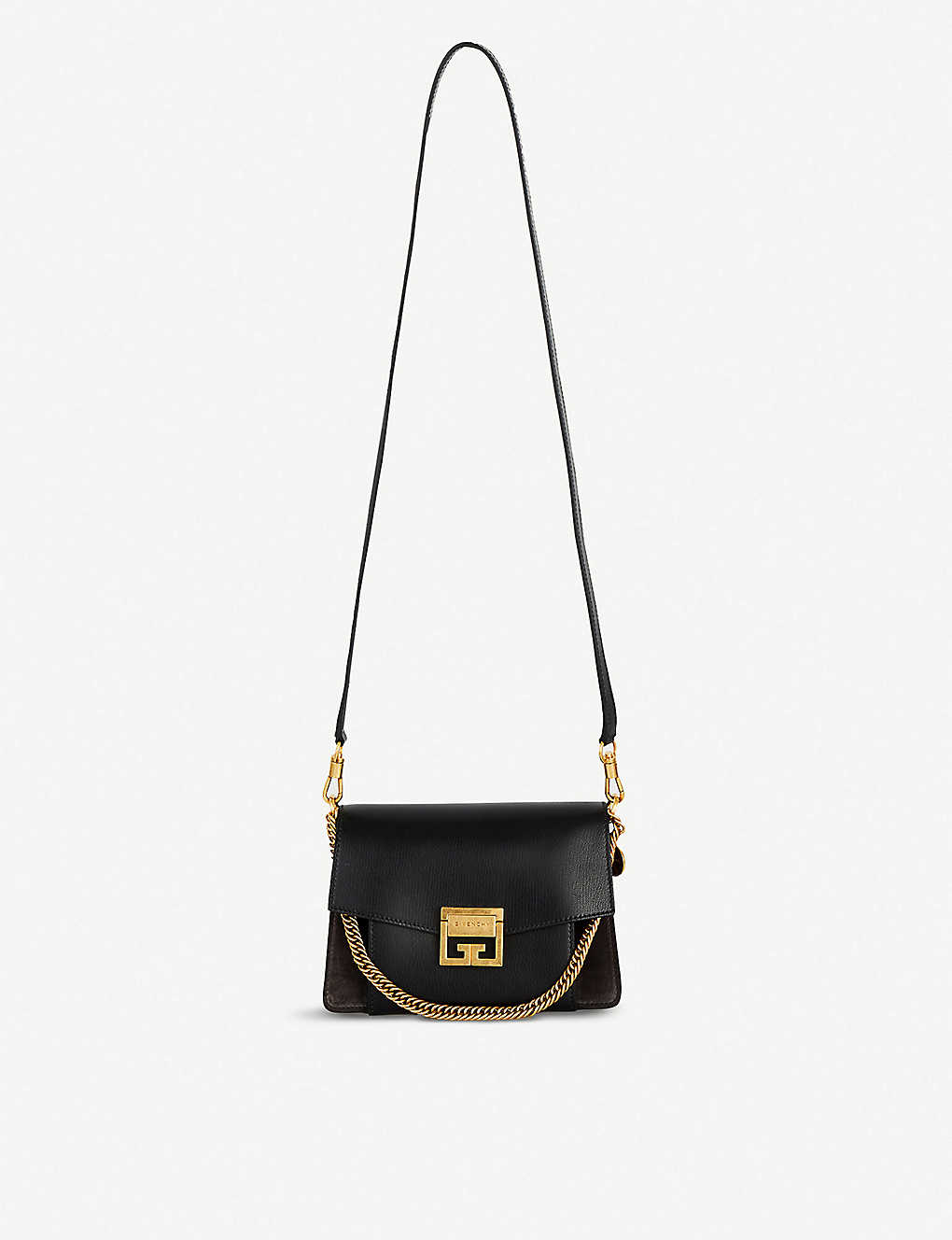 feaa0f4d7bb9e GIVENCHY - GV3 leather and suede shoulder bag | Selfridges.com