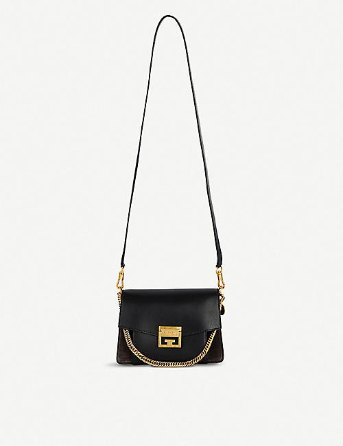 GIVENCHY GV3 leather and suede shoulder bag. Quick view Wish list 6cf5ef16b6
