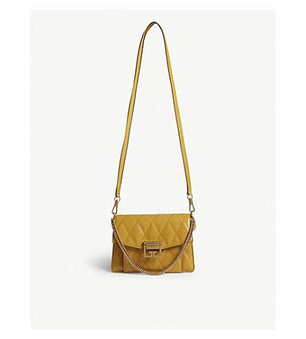 6bc29942933a9 GIVENCHY GV3 small quilted leather shoulder bag (Golden
