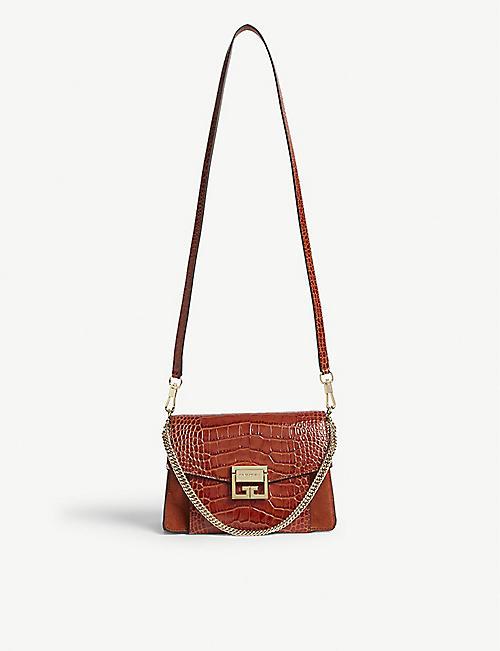 8540336e3d964 GIVENCHY GV3 leather shoulder bag