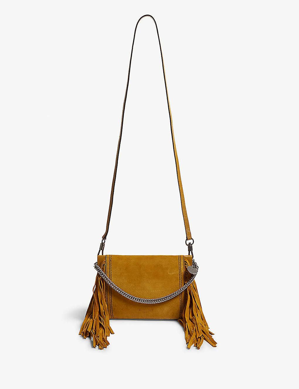 01084e31e683 GIVENCHY - Fringed leather and suede cross-body bag | Selfridges.com