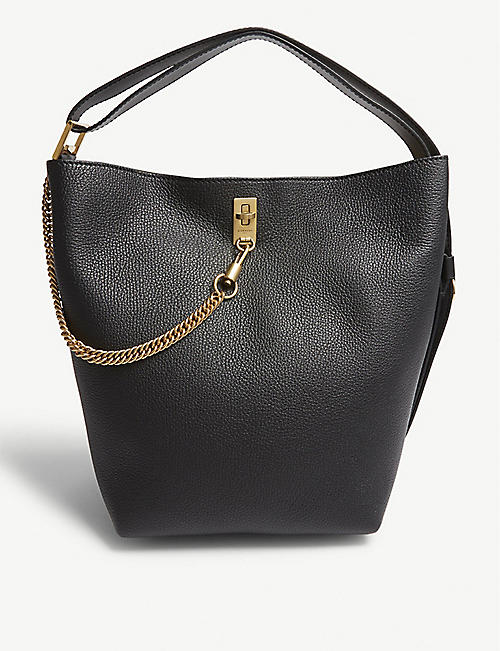 GIVENCHY GV3 grained leather bucket bag