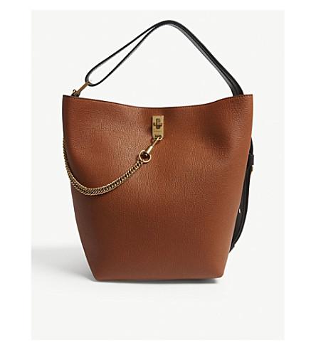 5dd846ae3a2d GIVENCHY - GV3 medium grained leather bucket bag