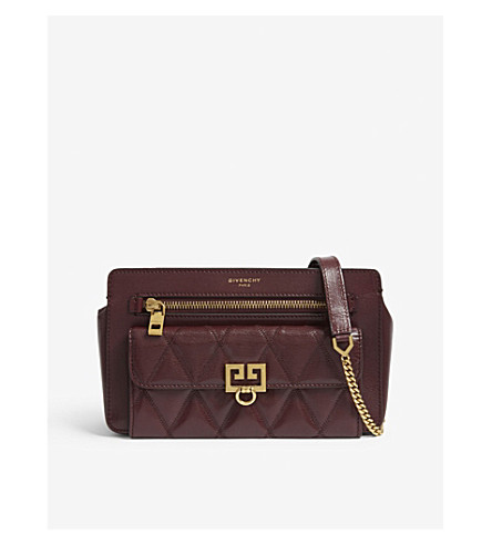 0b846d77d1af8f ... GIVENCHY Pocket quilted leather cross-body bag (Aubergine. PreviousNext