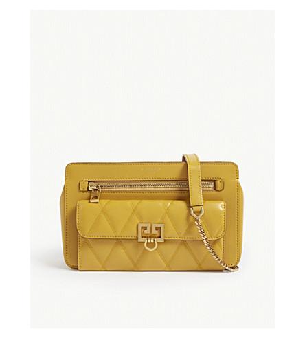 4c246181cc0e GIVENCHY Quilted pocket leather shoulder bag (Golden