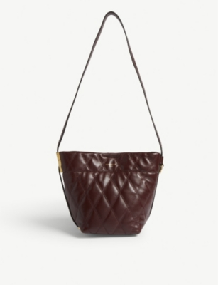 GIVENCHY GV mini quilted leather bucket bag