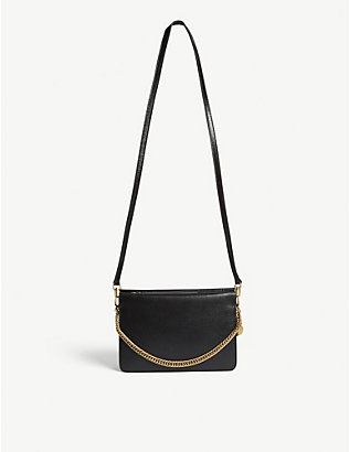 GIVENCHY: Brand-embellished leather shoulder bag
