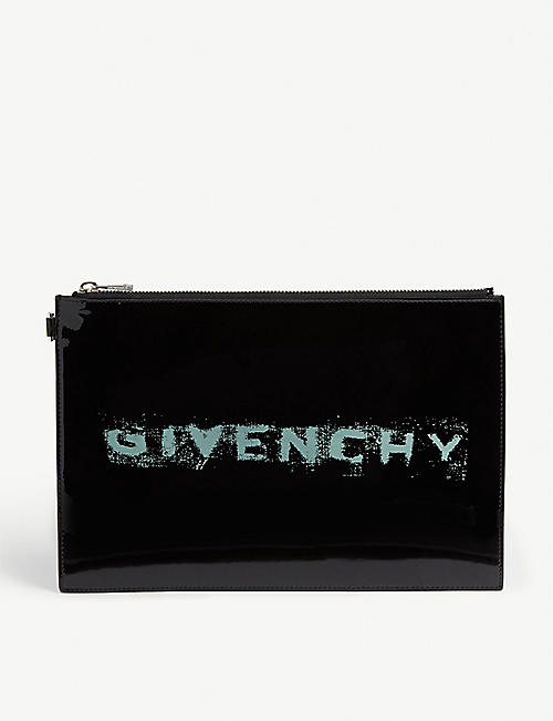 43c5e835cd GIVENCHY Patent pouch bag