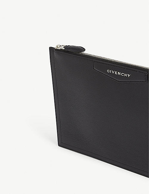 GIVENCHY Medium sugar leather pouch