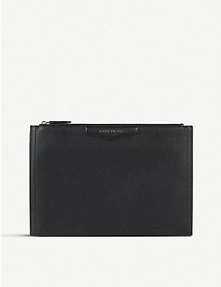 GIVENCHY: Antigona leather pouch