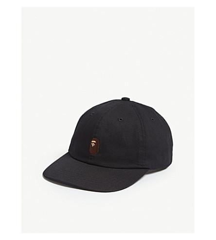 bd442574505 ... A BATHING APE Ape head cotton strapback cap (Black. PreviousNext
